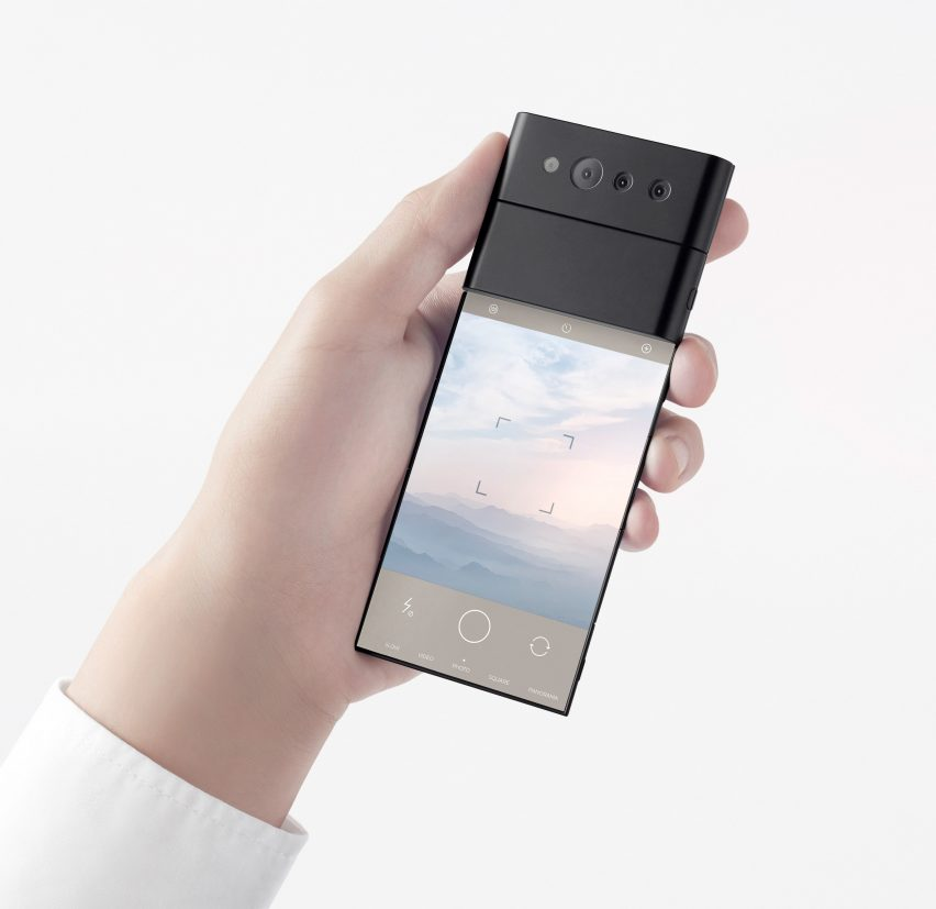 Slide-phone concept provided by Nendo for OPPO
