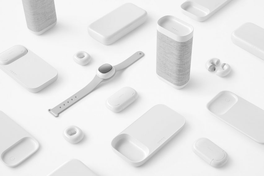 Music-Link mobile accessory collection provided by Nendo for OPPO
