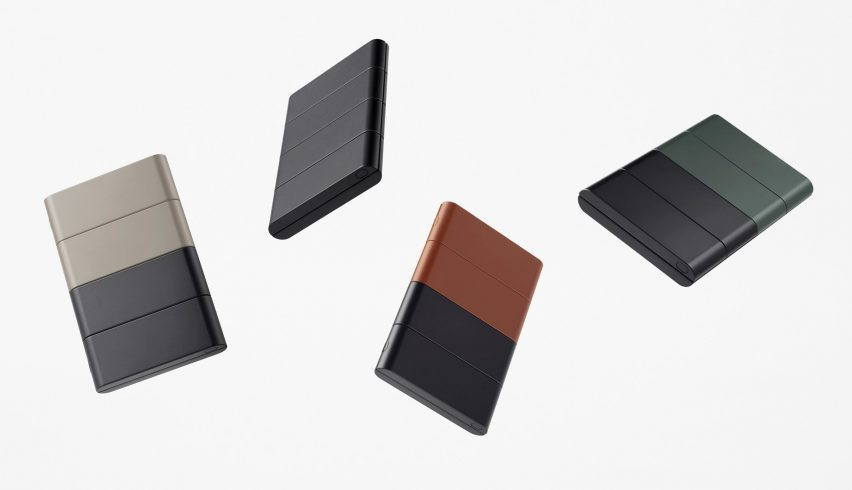 Slide-phone concept introduced by Nendo for OPPO in different colors