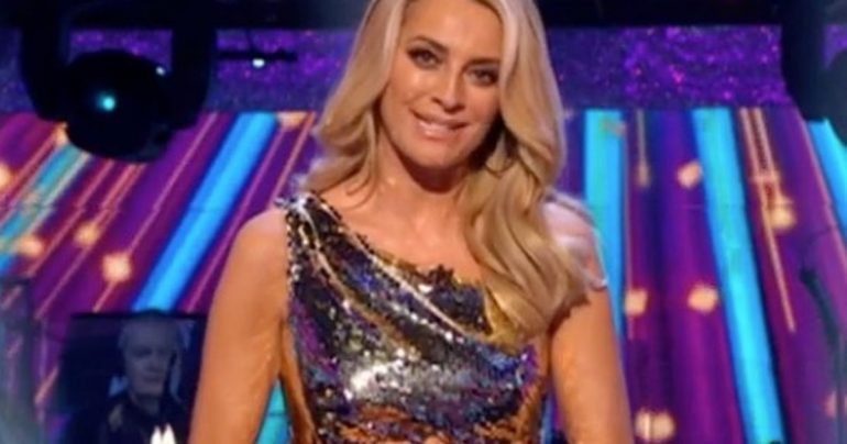 Strictly Beauty Tess Daly breaks the wardrobe in a dress that cuts to the hip