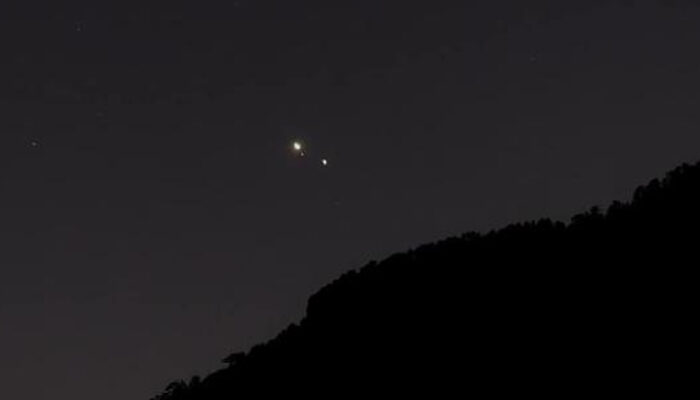 The Jupiter-Saturn conjunction from Antalya looks like this