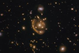 "The Hubble Space Telescope captures the largest and most complete ""Einstein rings"" ever seen"