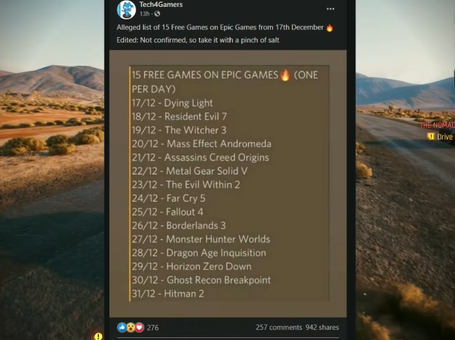 Epic Games Birthday Games December 2020 List 15 Free Birthdays And How To Get Them Every Day