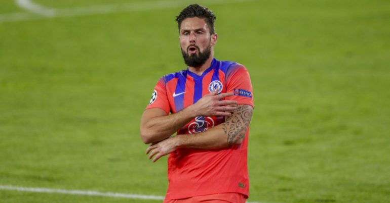 Giroud scored four goals as Chelsea hammer Sevilla