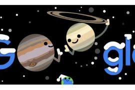 Google Doodle Spotlight on Jupiter and Saturn's best combination