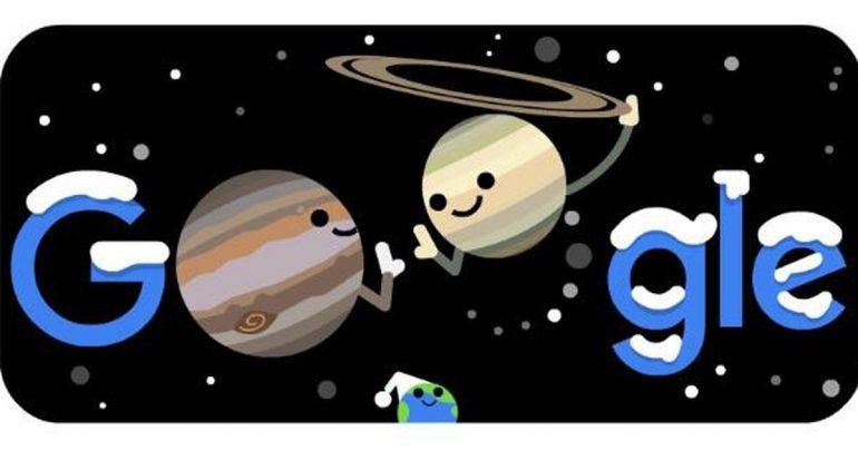 Google Doodle Spotlight on Jupiter and Saturn's best combination