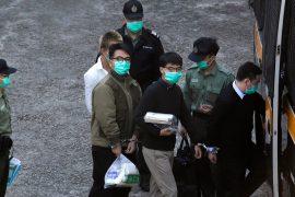 Joshua Wong, Agnes Chand and Ivan Lam were sentenced in Hong Kong