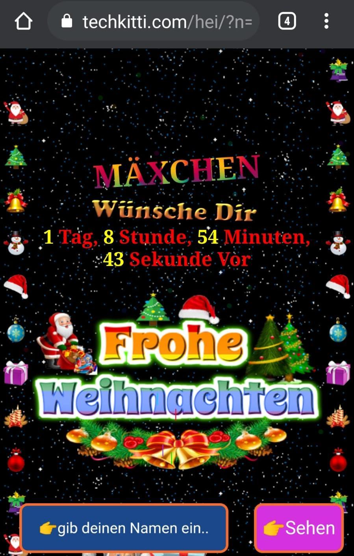 Screenshot Christmas Countdown