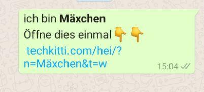 Screenshot WhatsApp message