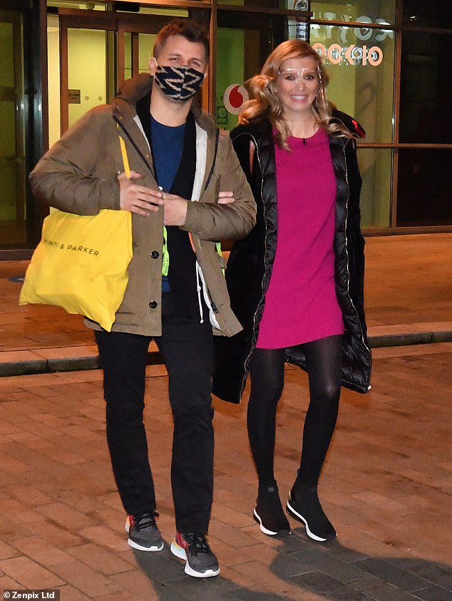Stylish: Rachel Riley looked stylish as 76-year-old Nick Hoover walked out of the Countdown studio for hours on Monday after announcing he was leaving the show.