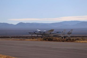 The spacecraft and its mothership took off in New Mexico on Saturday morning