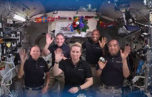 The astronauts at the RSS space station are on holiday to celebrate Christmas