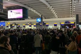 The last-minute flight from London was prepared for 'hundreds' of Irish passengers