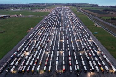 Thousands of trucks stranded in UK amid fears of corona virus mutation despite France allowing reopening of limited border