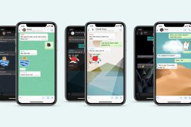 WhatsApp iOS update provides more customized wallpapers for personal chats and sticker search