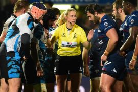 Two women referees in the European Challenge, a rare decision
