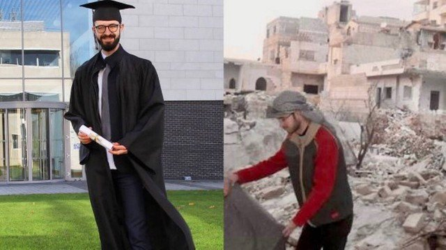A young man fleeing the war in Syria goes viral with a photo before and after