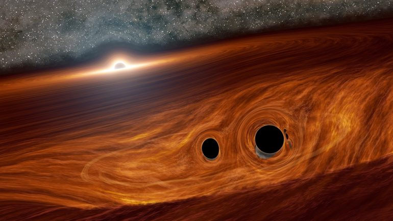 Astronomers see an indication of the background of the gravitational wave to the universe