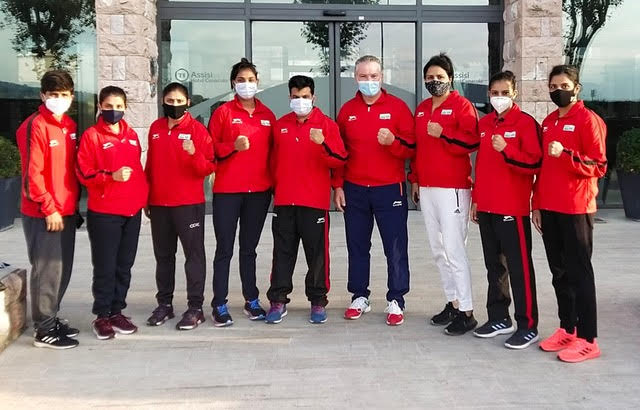 Boxing and national teams of Ireland, Finland and India at the Assisi Boxing Center