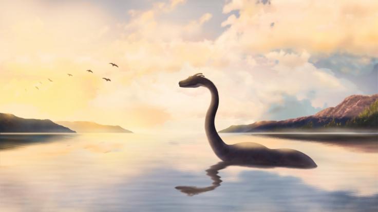 So stellt man sich Nessie vor. Eine Webcam soll nun das Ungeheuer von Loch Ness zum ersten Mal in diesem Jahr aufgezeichnet haben.