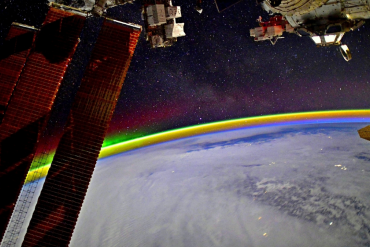 Did you see that?  Stunning photo of space rainbow taken by a Russian astronaut