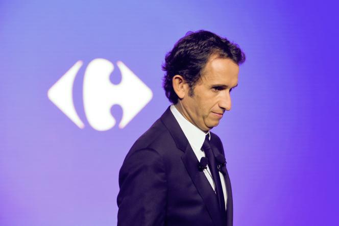 Alexander Bompard, CEO of Carrefour in 2018 at La Defense (Huts-de-Seine).