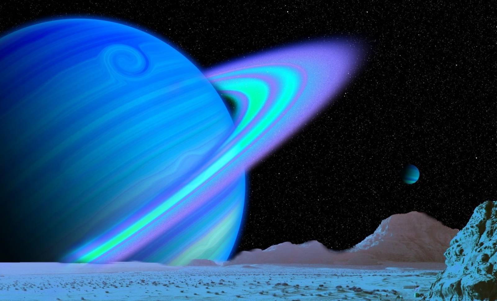 Nearby Planet Uranus