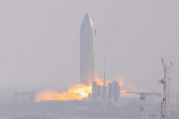 SpaceX's SN9 starship prototype launches engine for the first time