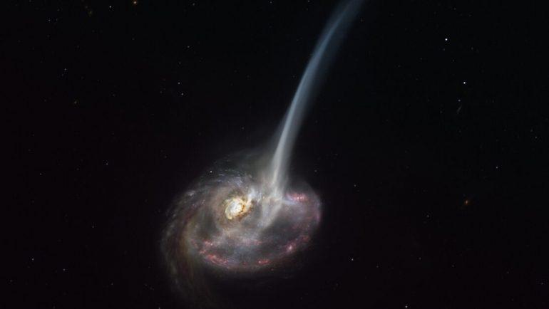 Observan por primera vez la muerte de una galaxia muy lejana