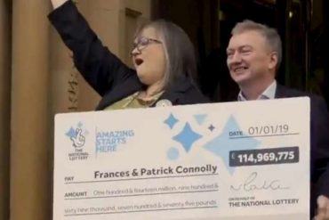 They smash and pay Euromillions: Two Northern Irish life partners promise charity to Maxi