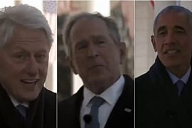 """Yusuf, Clinton, Bush and Obama together in a video: """"Biden comforts you"""""""