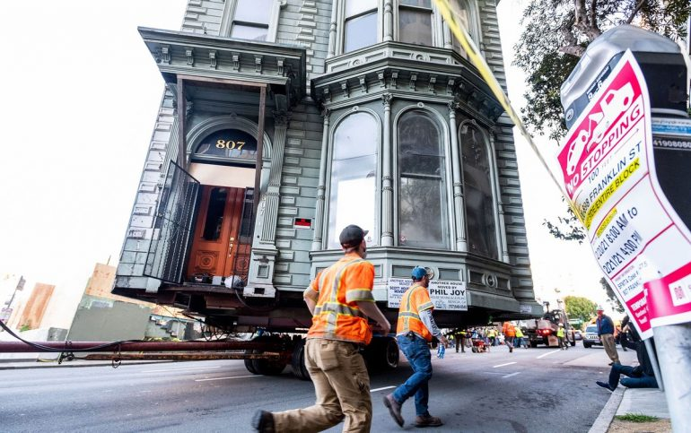 139-year-old home moved to San Francisco |  The world
