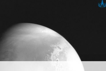 The Chinese spacecraft Tianwen-1 sends the first photo from Mars
