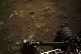 नासा के रोवर ने मंगल ग्रह से भेजी ये शानदार तस्वीर। (फोटो: ट्विटर/नासा)