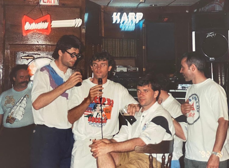 Keane posted pictures of his 1992 trip from the Republic of Ireland to the United States