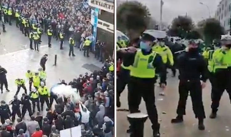 Lockdown down in Ireland: Terror in Dublin as angry mob firecrackers at police - Video |  The world