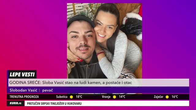 Sloba Wasik talks about family: When she spoke, I told her she would be my wife (Kurir Television)