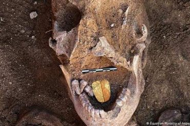 Discovery of the 'Golden Tongue Mummy' in the Egyptian Daily