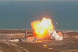 Elon Musk SpaceX Starship SN9 Prototype Rocket Explodes