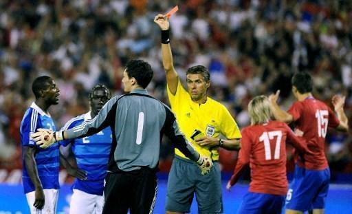 Football - Red cards for blues.  Hugo Lloris, 2009, first custodian .... Sports