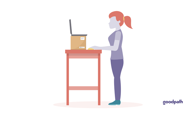 Illustration of a standing WFH installation.