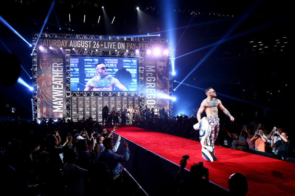 McGregor scored nine points in his professional boxing debut against Mayweather