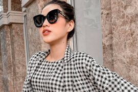 Miss Do Thi Ha uses more luxury brands, but only wears a glass