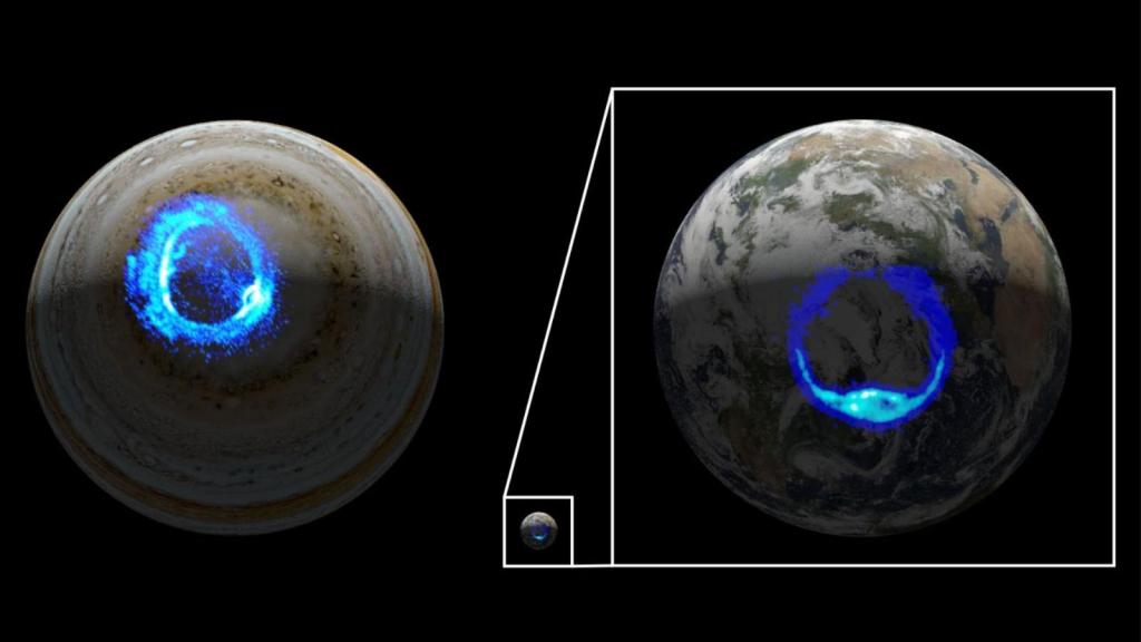 NASA reveals origin of auroras on Jupiter