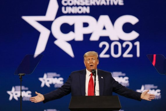 Facing conservatives, Donald Trump suggests running for office in 2024