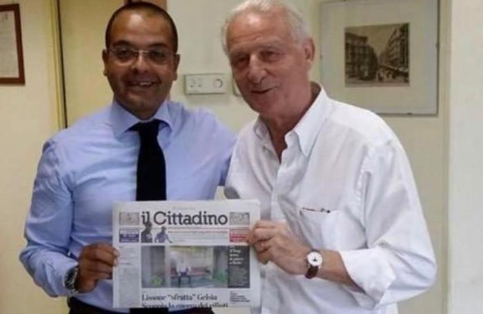 Giovanni Trapattoni's Birthday: Citadino's Commercial Director Fabio Latella and Citizen on the front page