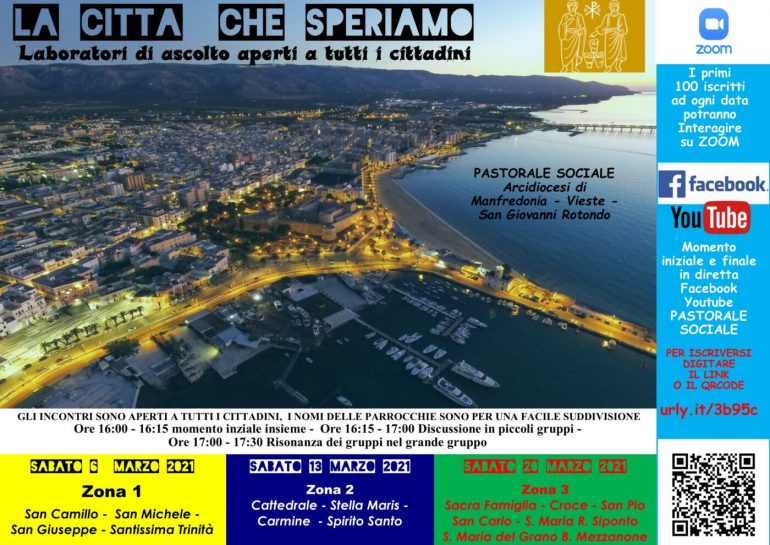 """Manfredonia.  """"The city we look forward to"""": The discussion forum is open to the public"""