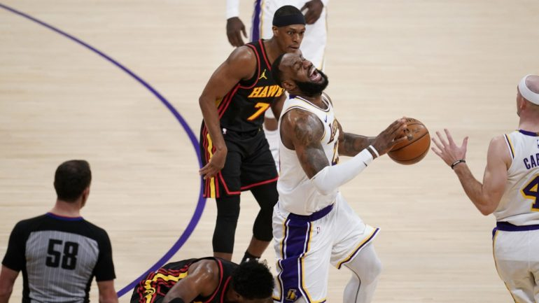NBA Basketball - LeBron James screams in pain - Sports