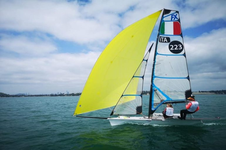 Sailing, first day at Lanzarote, Italy 49er, 49erFX - Last Olympic qualifier for OA sport