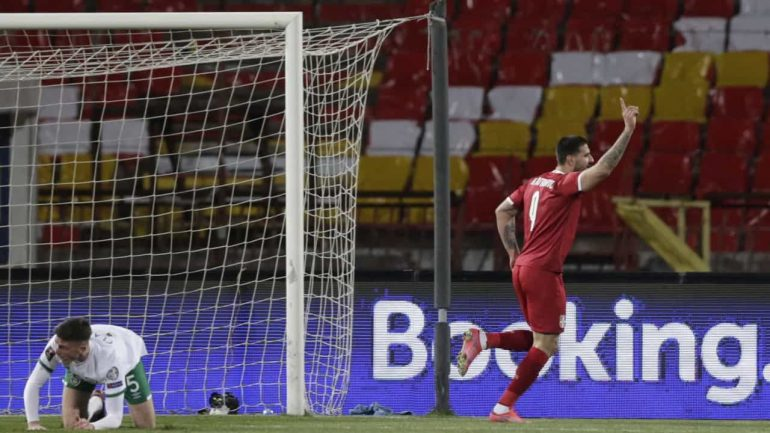 Serbia completed the score and won in the Republic of Ireland